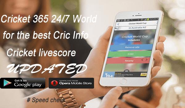 Cricket365 24/7 get cricket live score app