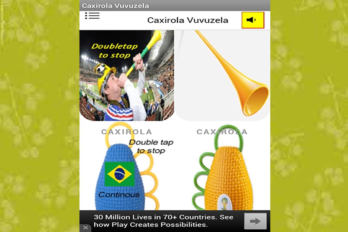 Vuvuzela sound horn app