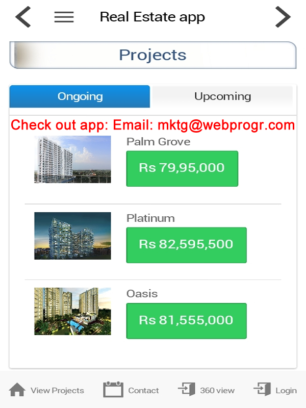 Smart phone real estate app