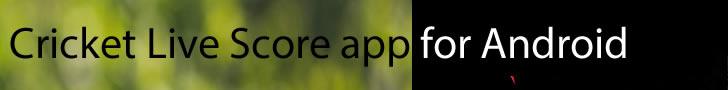 Cricket Live Score apps